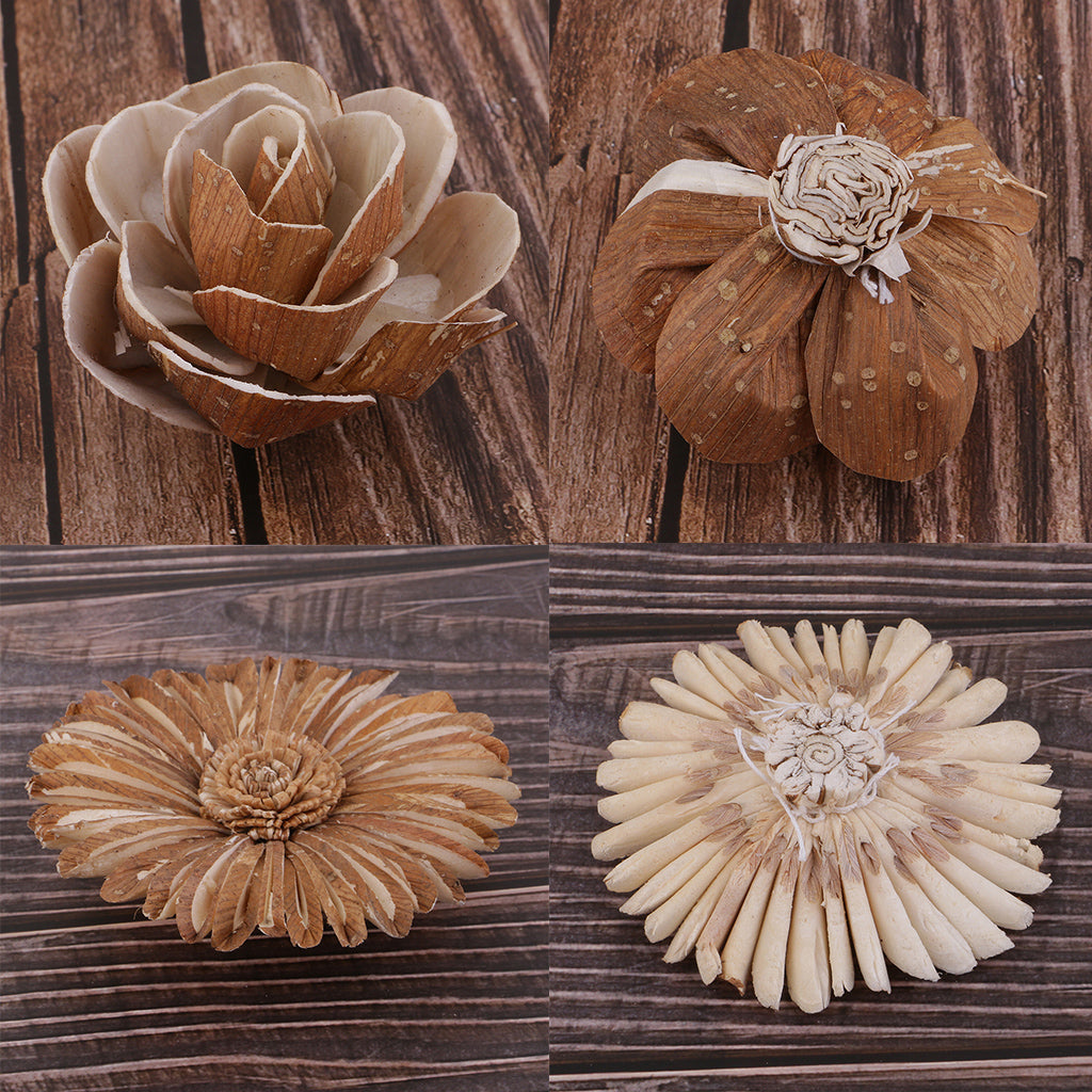 Natural Dried Flowers Fruits Rustic Floral Accents Table Ornament - home and decor