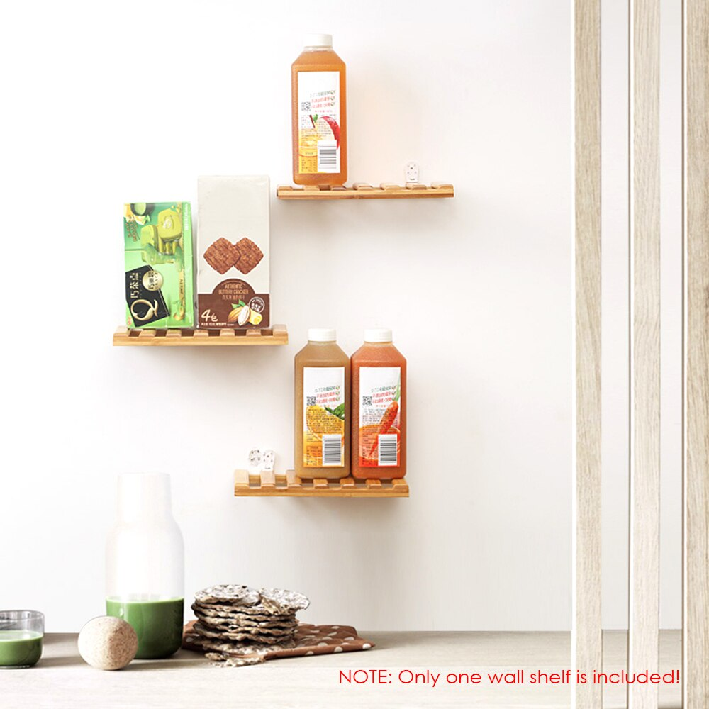 Wooden Bracket Edge Floating Shelve Floating Brace Shelf Bracket Wall Ledge Bamboo Storage Rack Wall Decor