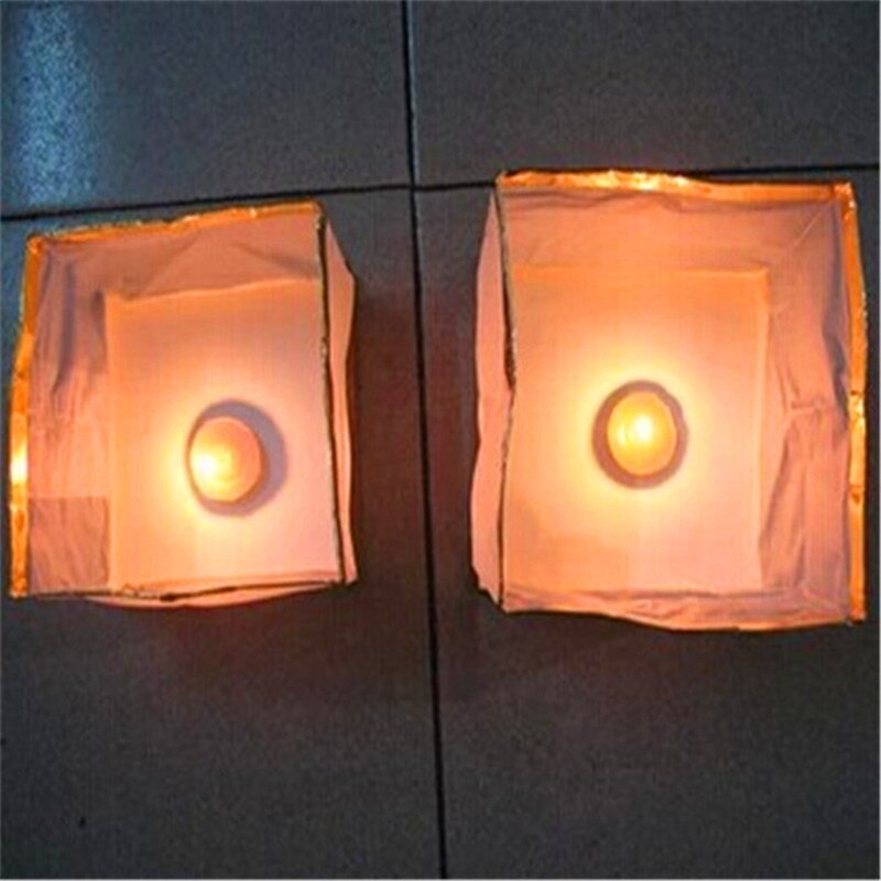 100Pcs/Set  New 10cmx10cm  Floating Outdoor Water Lanterns Candle Tea Lights Wishing Praying River Light Wedding Decoration