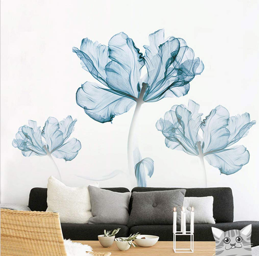 Flower Wall Stickers Home Decoration Accents for Kids Room Decoration Home Improvement Paint Wall Treatments Vinyl Removable