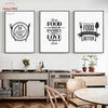 Kitchen Decor Food Quote Canvas Painting Wall Art Print Poster- wall art