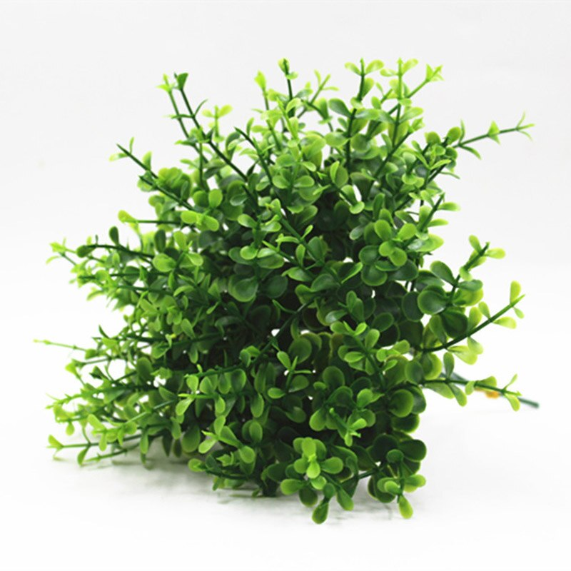 Mini Flowers Green Artificial Plant Eucalyptus Plastic Money Leaves Grass - home and decor