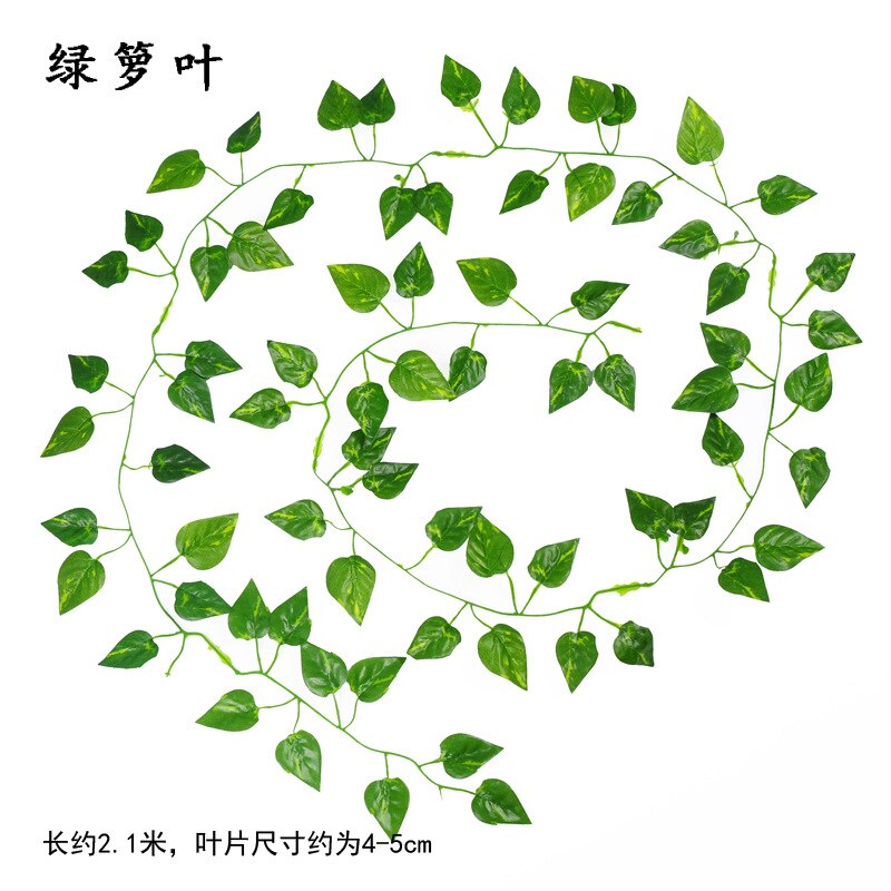 2.1M Artificial Ivy green Leaf Garland Plants Vine Fake Foliage - home and decor