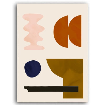 Modern Abstract Scandinavia Canvas Painting Poster and Prints - wall art-oosmdeals