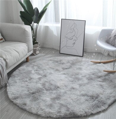 Nordic round carpet tie-dye living room coffee table blanket bedroom - home and decor-oosmdeals