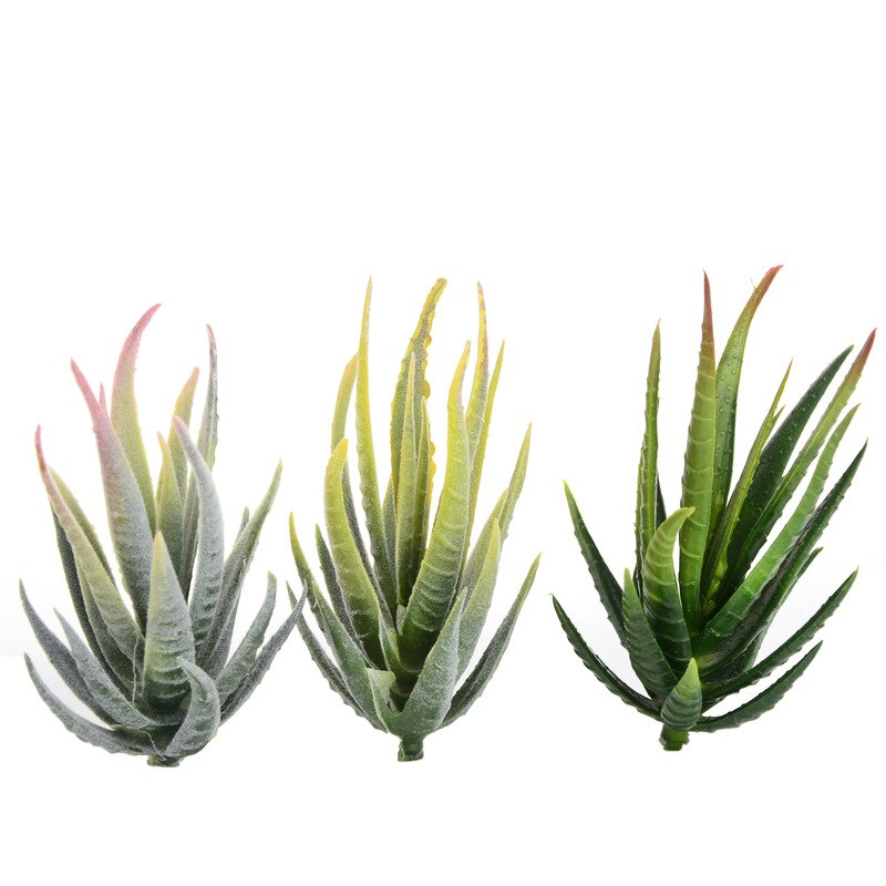 Artificial Succulent Plants Aloe Zebrina Artificial Plants Landscape Fake Flower Arrangement Home Garden Decor Accessories plant