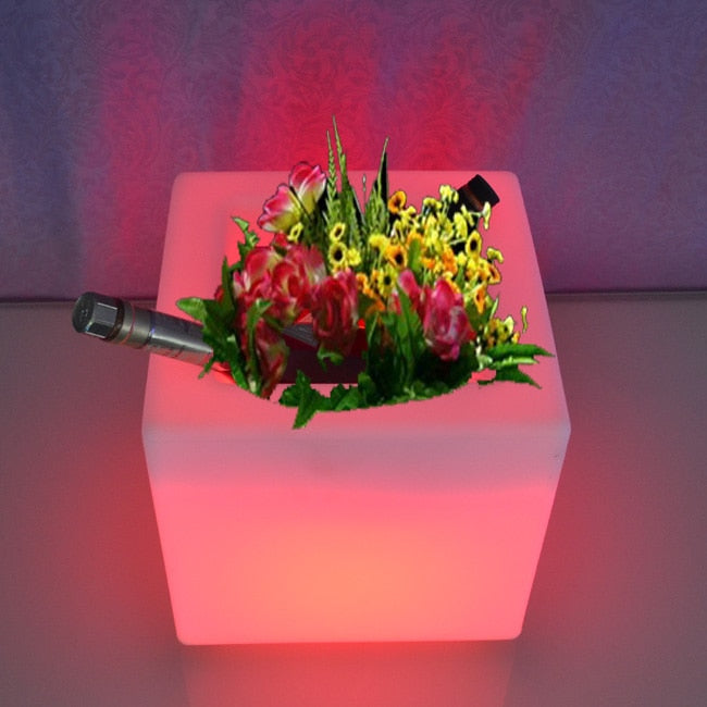 Remote control Colorful Led Luminous pot - home decor Online store