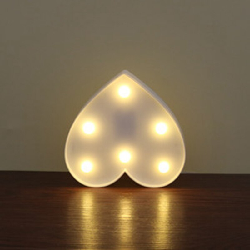 Heart LED Night Light Romantic Marquee Heart Sign Table Lamp LED Hanging Light - home decor Online store