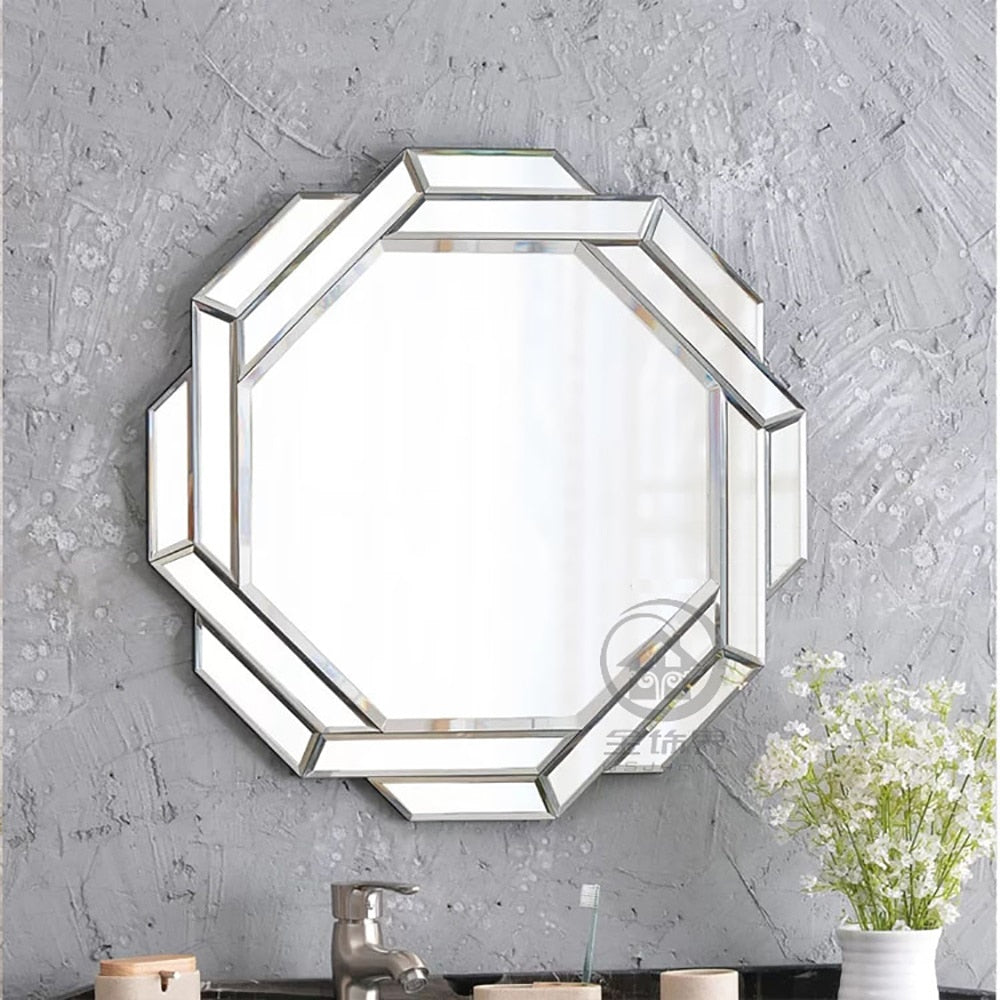 Modern wall mirror glass vanity mirror wall decorative mirrored art - wall art