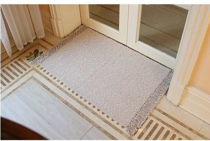 WINLIFE Cotton Blending Fiber Carpets Decorative Area Rugs For Living Room/Bedroom Entrance Doormat Bedside Rugs Washable Mats-oosmdeals