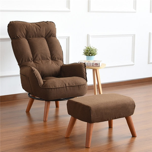 Contemporary Swivel Accent Arm Chair Home Living Room Furniture Reclining Folding Armchair Sofa Low Swivel Chair For Elderly - home and decor