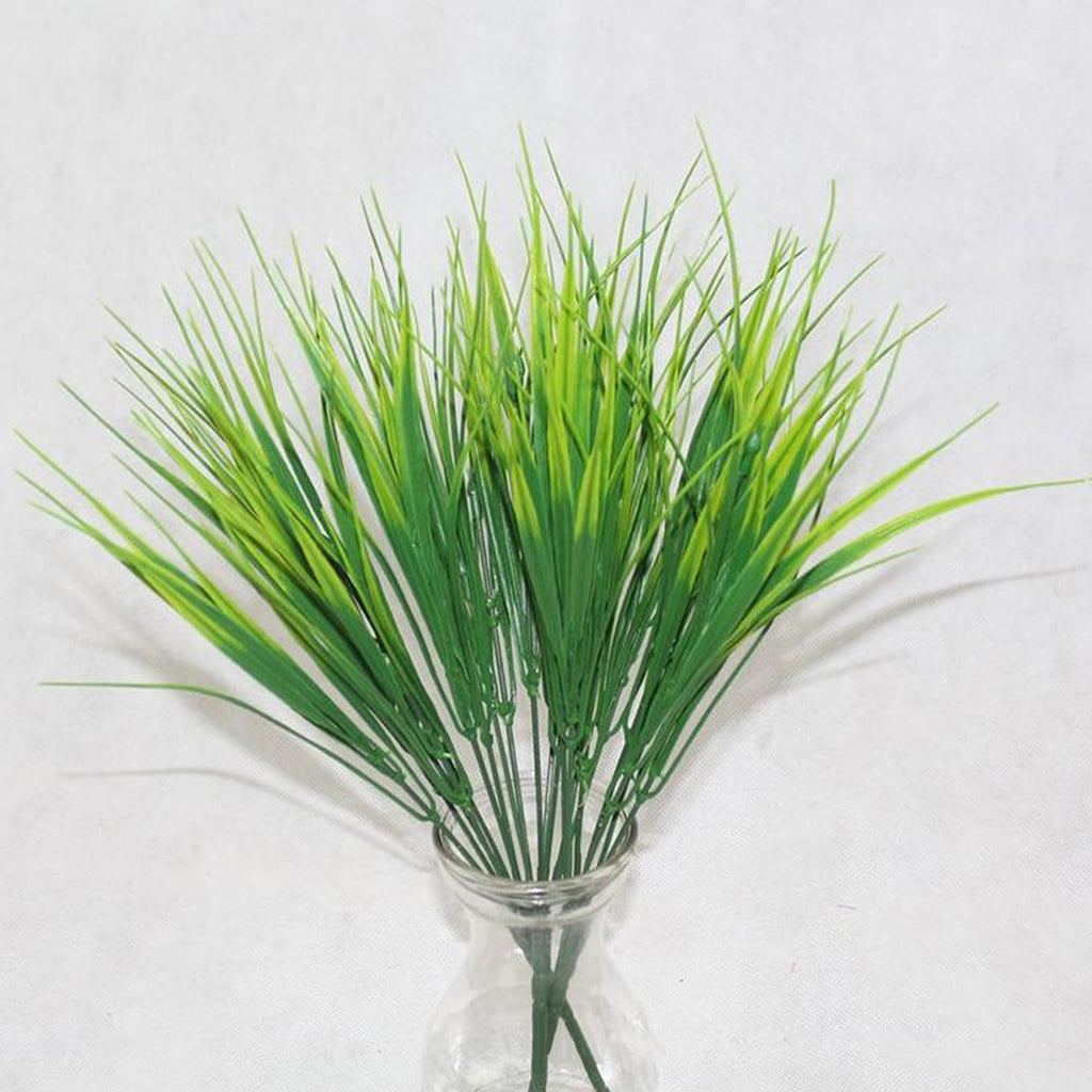 7 Fork water grass Eucalyptus Plastic Artificial Plants Green Grass plastic flower Plant Wedding Home Decoration Table Decors