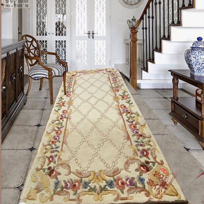 Corridor carpet  Large size rug Wool custom carpets Washable rug for living room bedroom  floral mats Luxury high qulity carpets - home and decor