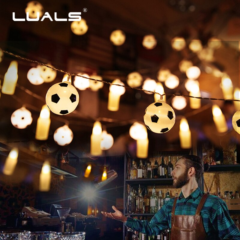 2018 World Cup in Russia Decoration Football Night Light LED Holiday Lamps Bar Ambience Football Party Lighting Christmas Lights