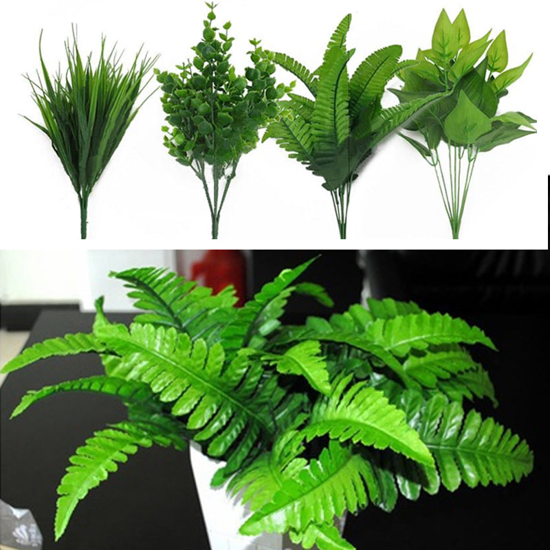 Plants Indoor Outdoor Fake Flower Leaf Foliage Bush Home Office Garden Decor Artificial Green Leave Plant Decoration