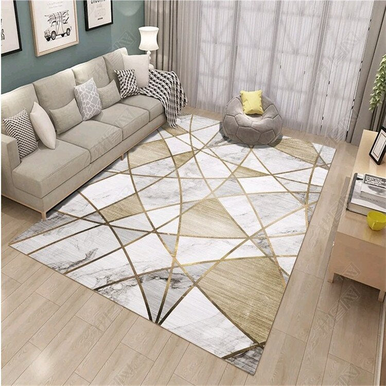 Creative Nordic Carpets For Living Room Sofa Coffee Table Rug Home Carpet Bedroom - home and decor-oosmdeals