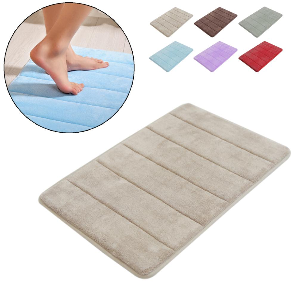 Water Absorption Rug Bathroom Mat Shaggy Memory Foam - home and decor