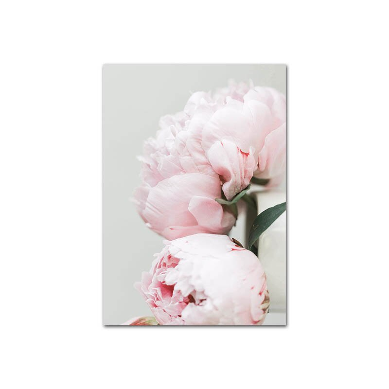Peony Flower Canvas Poster Nordic Blush Floral Botanical Print Wall Art Painting Scandinavian Decoration Picture Room Decor