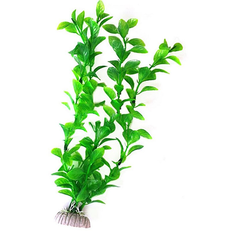 25cm Aquatic Fish Tank Landscape Aquarium Decor Green/Purple Artificial Plastic Water Grass Weed Plant Ornament