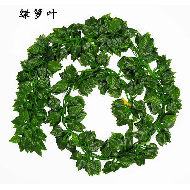 2.1M Artificial Ivy green Leaf Garland Plants Vine Fake Foliage Flowers Home Decor Plastic Artificial Flower Rattan string