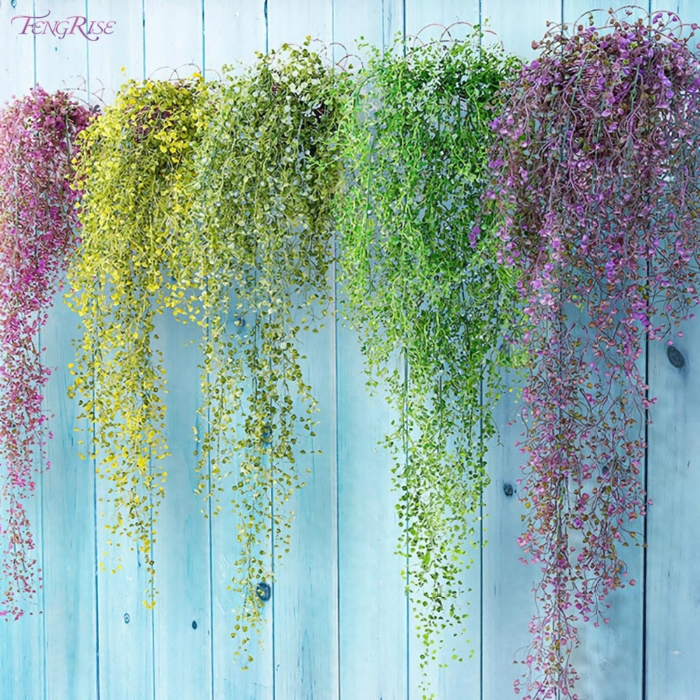 FENGRISE 80cm 1pcs Artificial Flowers Vine Ivy Leaf Fake Plant Artificial Plants Green Garland Home Wedding Party - home and decor