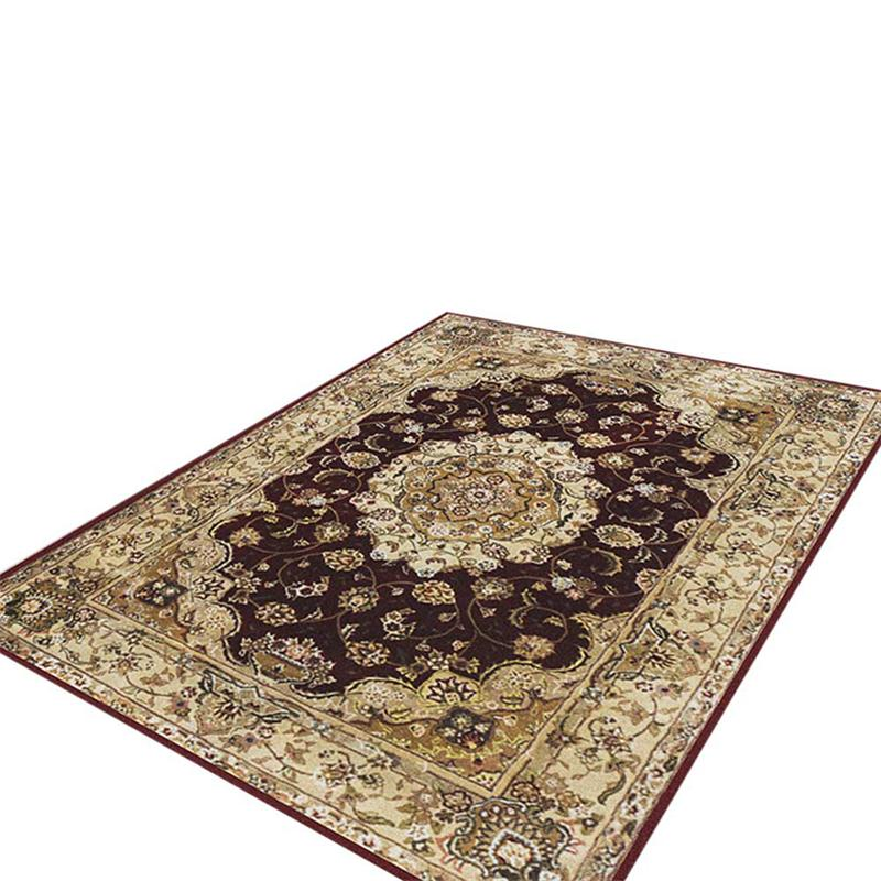 EHOMEBUY Square Carpet Chinese Classical Anti Slip Floral Pattern for Living Room/Bedroom - home and decor-oosmdeals