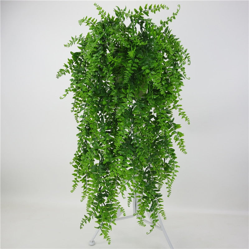 Artificial Leaves Plastic Plant Vine Wall Hanging Garden Living Room Club Bar Decorated Fake Leaves Green Plant Ivy P0.11 - home and decor