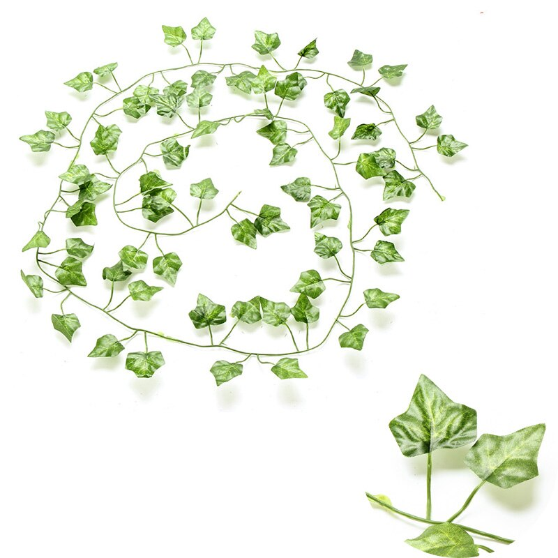Artificial Rattan Ivy Grape Green Leaf Plastic Vine for Home Garden - home and decor-oosmdeals