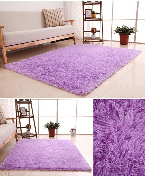 Zeegle Carpet for Living Room Soft Shaggy Floor Rug Fluffy Mats Kids Room Area Rug Bedroom Large Size Mat Bedside Carpet Mat Rug-oosmdeals