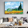 Wheatfield With Cypresses By Van Gogh Painting Replica - wall art