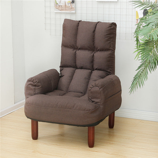Modern Upholstery Fabric Sofa Armchair Living Room Furniture Folding Recliner Reclining Back Arm Accent Chair - home and decor