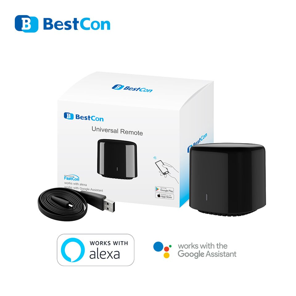 Original Broadlink Bestcon Smart Home RM4C Mini WiFi+IR+4G Remote Control EU Plug Wireless Controller work for Alexa Google Home