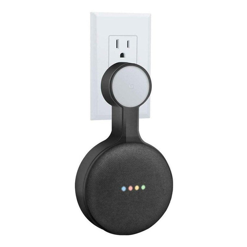Outlet Wall Mount Stand Hanger Holder For Google Home Mini Voice Assistant - home decor Online store-oosmdeals