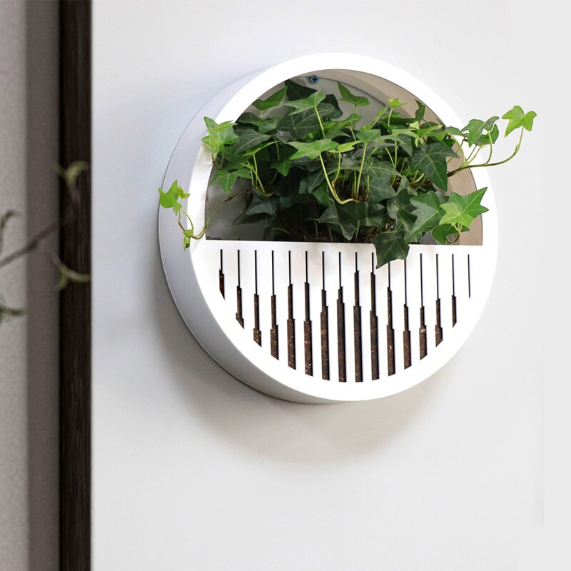 Brief Round Wall Vase High Quality Acrylic Hanging Vase Modern New Chinese Wall-mounted Flower Pot Succulent Planters Home Decor