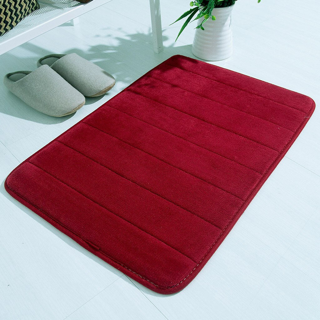 40x60cm Water Absorbent Soft Memory Foam Mat Carpet Bathroom Bedroom - home and decor-oosmdeals