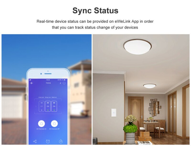 Sonoff T1 T2 T3 Work with Google Home Alexa US Smart Home WiFi RF Remote Control Wall Light Switch Panel Wall Touch Light Switch