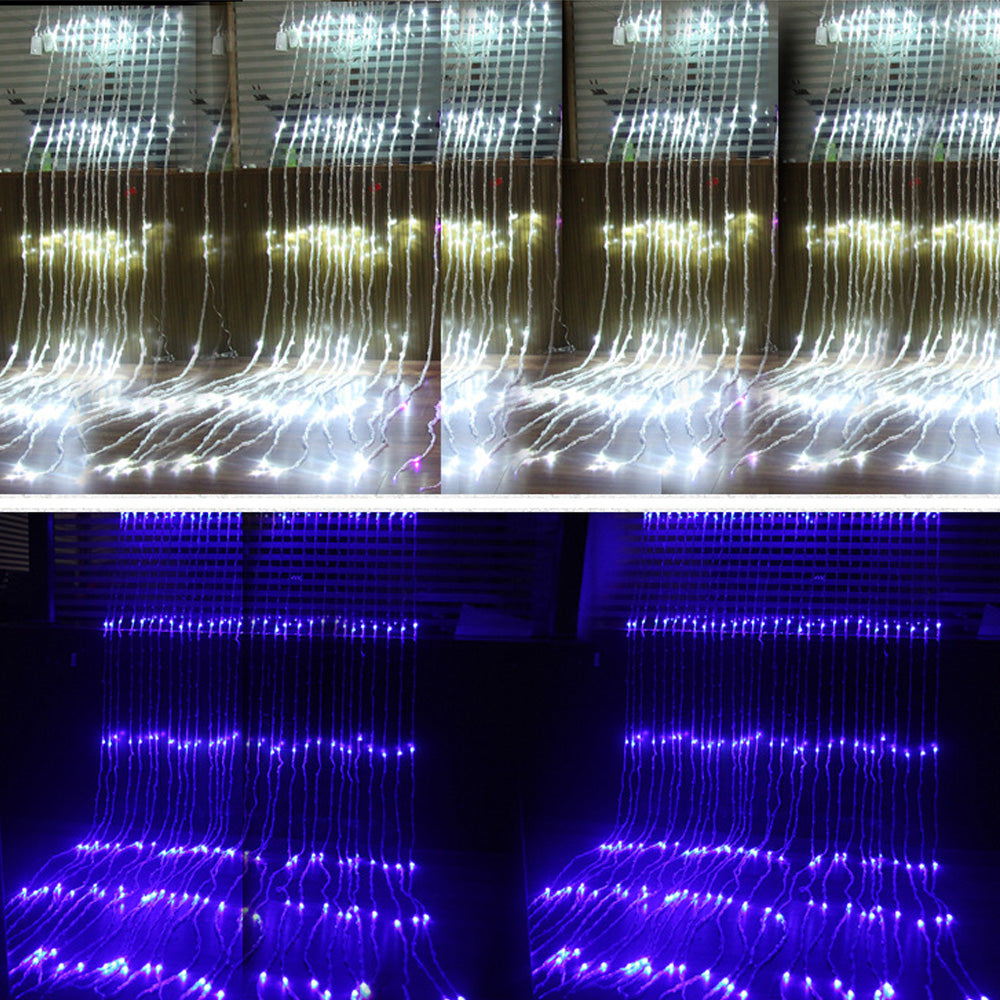 6X3M  3X3M 3X2M LED Waterfall Curtain Icicle LED String Light Christmas Wedding Party Background garden Decoration lights