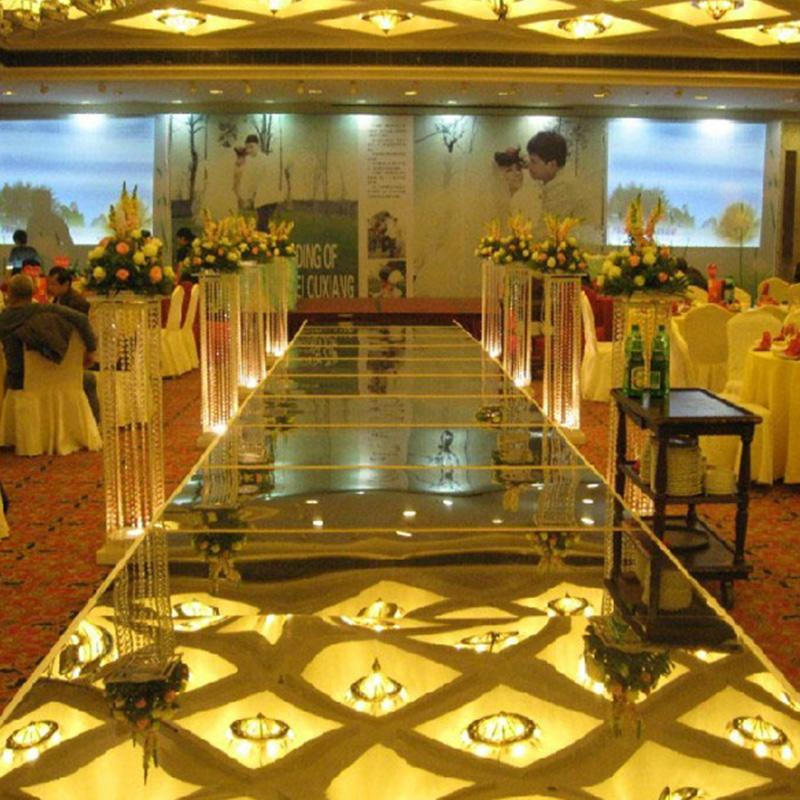 Wedding Mirror Carpet T Stage Carpet Runner For Wedding party - home and decor