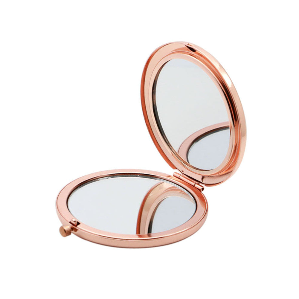 100pcs/lot Custom Laser LOGO Travel Makeup Mirror Mini Pocket Mirror Chrome / Gold / Rose Gold Cosmetic Mirrors for Purse