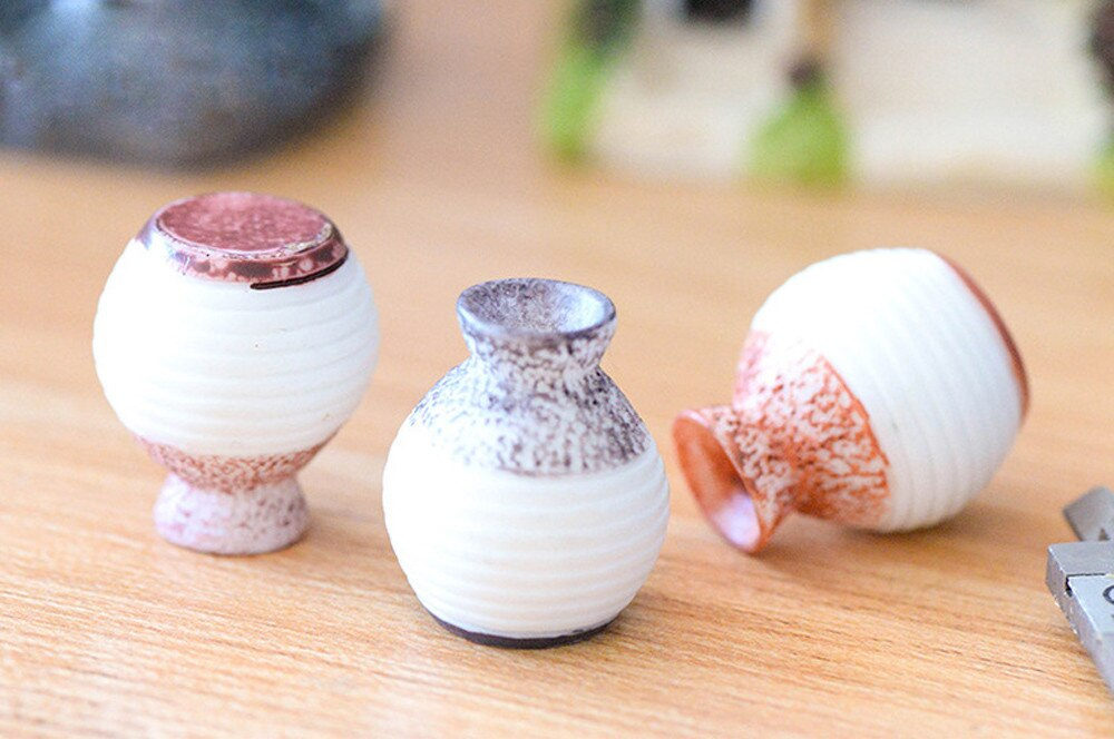 Resin Miniature Small Mouth Vase DIY Craft Accessory Garden Resin vase small ornaments - home and decor-oosmdeals