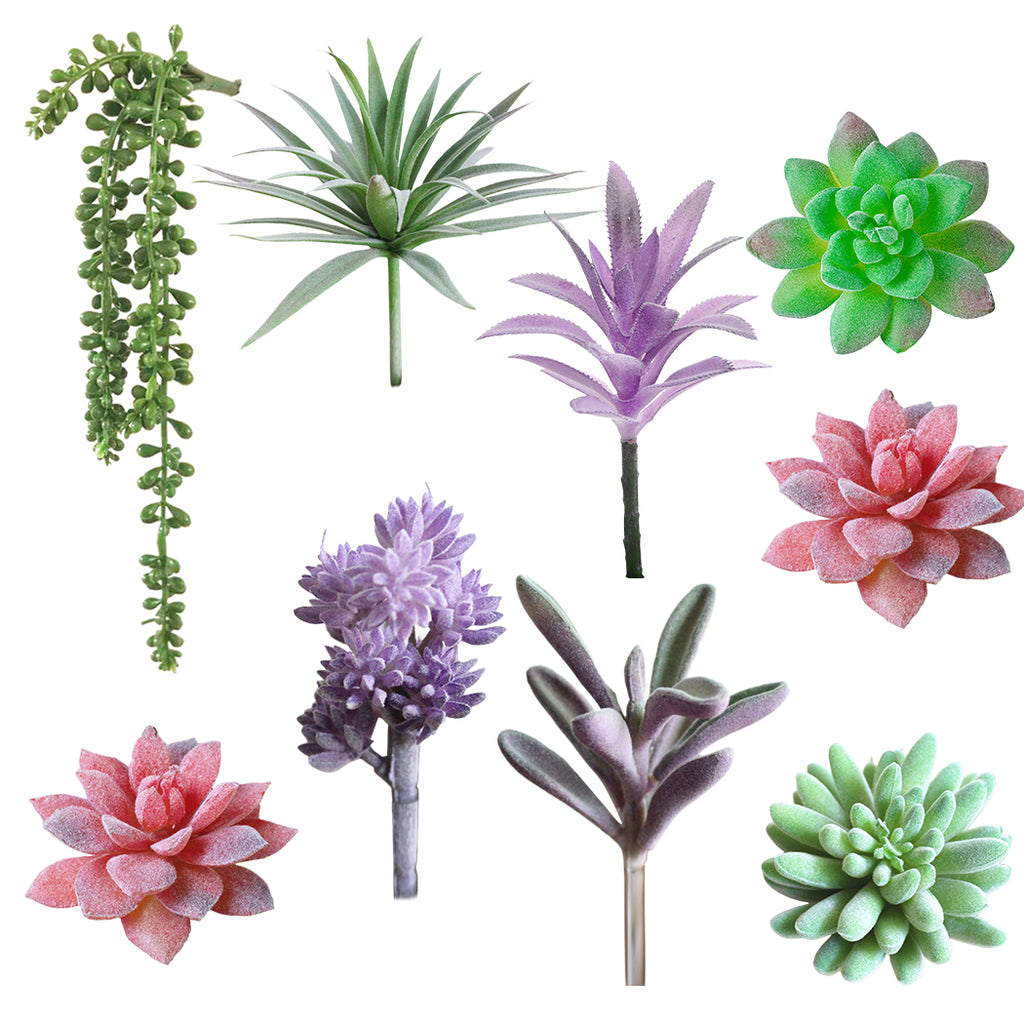 Artificial Succulents Pearls Fleshy Green Vine Flowers Hanging Rattan Wall Garden Decoration Flower Lover Tears Succulent Plants