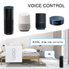 WiFi Electric Smart Curtain Switch Tuya APP Voice Remote Control Touch Switch for Automized Curtain Motor Blind Roller Shutter