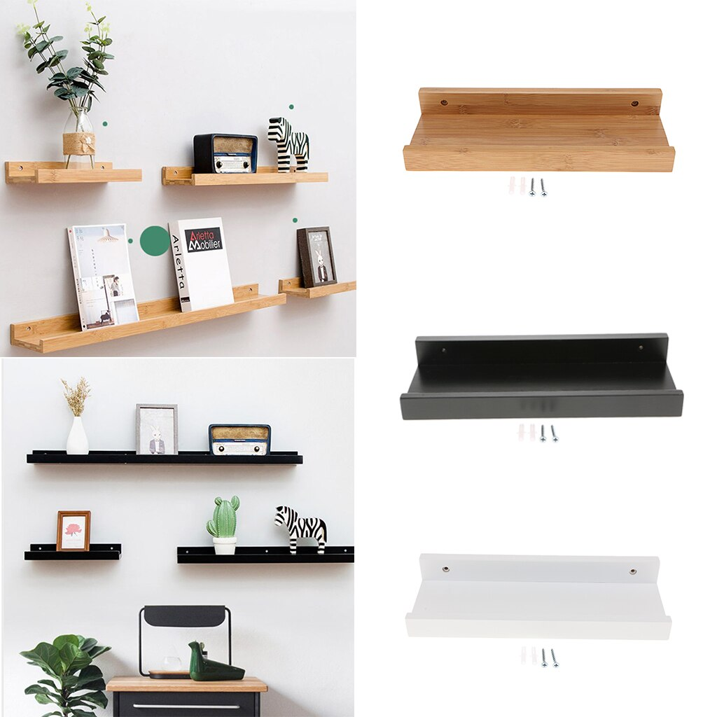 Kitchen Floating Shelves Wall Mounted Wooden Rack Decor for Room, Kitchen Storage and Display, DIY Hanging Shelves