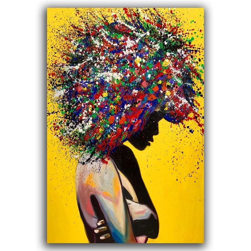 Girl Canvas Oil Painting Poster Pictures - wall art-oosmdeals
