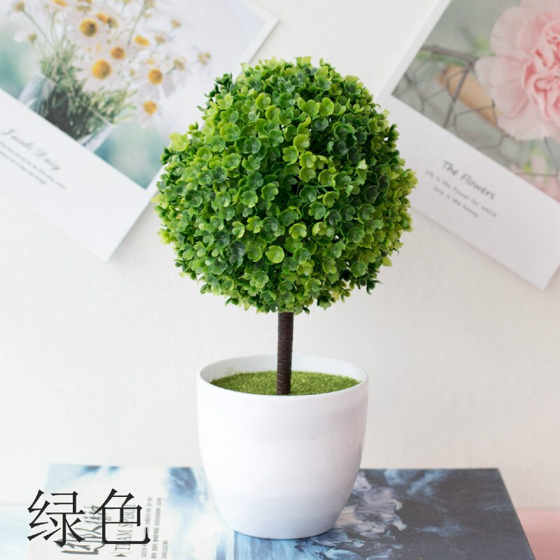Artificial Plants Bonsai Small Tree Pot Plants Fake Flowers Potted Ornaments - home and decor-oosmdeals