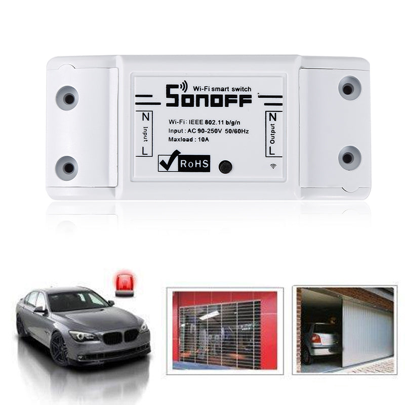 Sonoff Basic R2 Smart Home WiFi Wireless Switch Module for Apple Android APP For ITEAD Sonoff  Without 433Mhz RF remote function