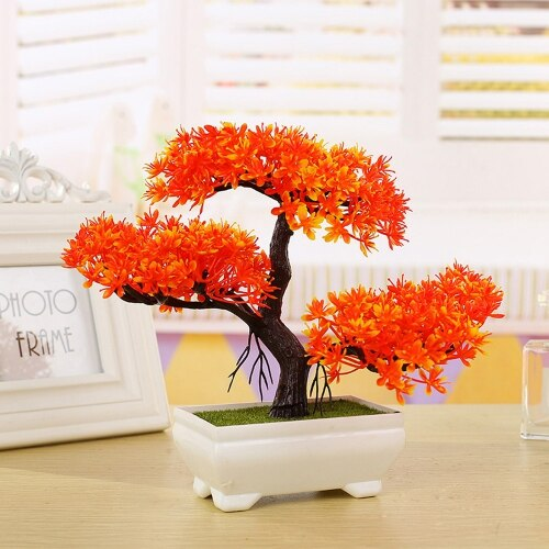 Multicolor Artificial Plant Small Tree Potted Plants Fake Bonsai Guest-Greeting Pine Tree - home and decor-oosmdeals