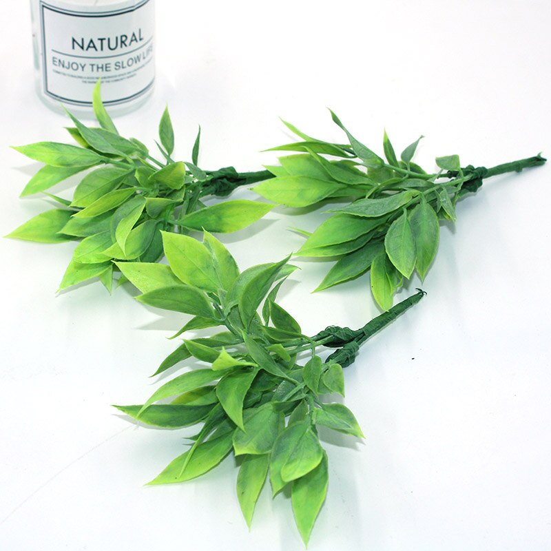 artificial mint leaves handmade artificial green leaves for wedding decoration - home and decor-oosmdeals