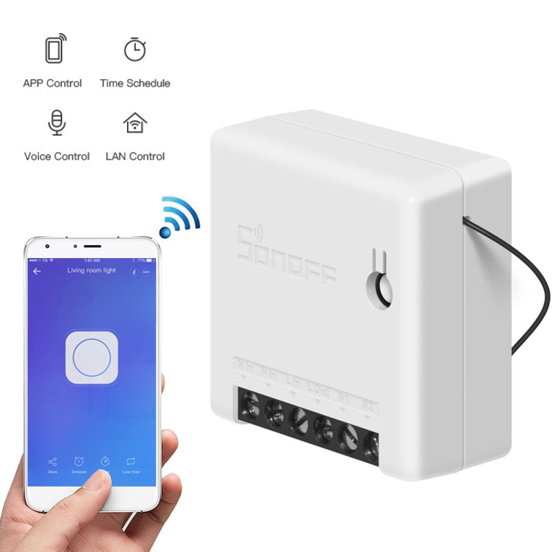 Sonoff Mini DIY Smart Switch Ewelink Remote Control Wifi Switch smart home Support External Work with Alexa Google Home IFTTT