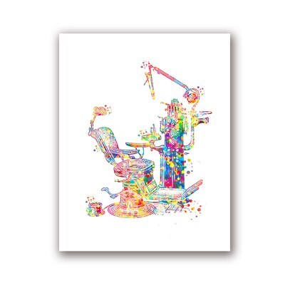 Dental Equipment Medical Posters and Prints Teeth Anatomy Watercolor Art Picture Canvas Painting - wall art